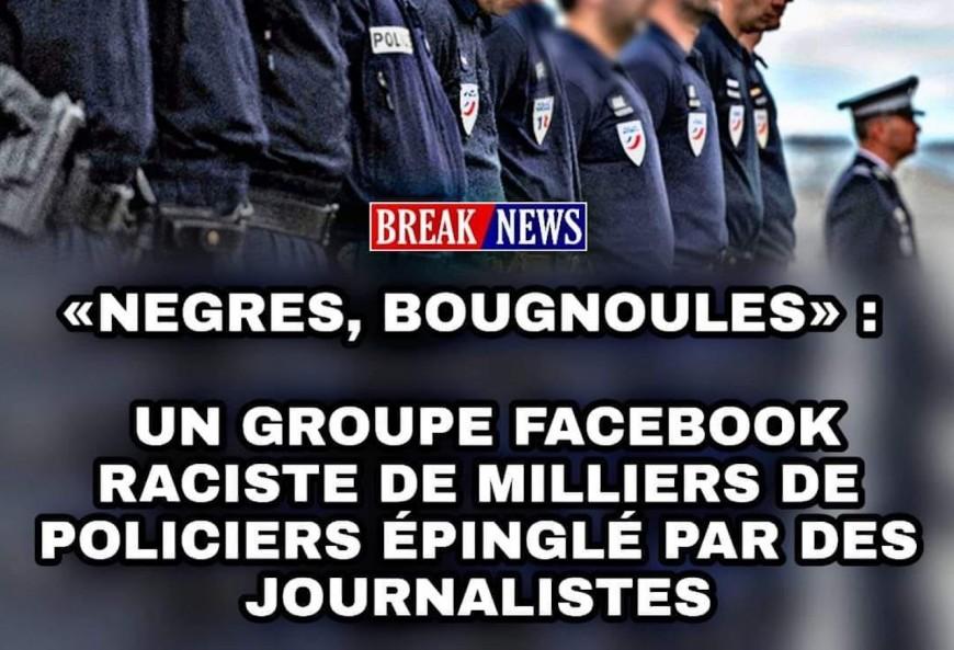 """Une photo de policiers lyonnais utilisée pour illustrer le groupe polémique """"TN Rabiot Police Officiel"""""""