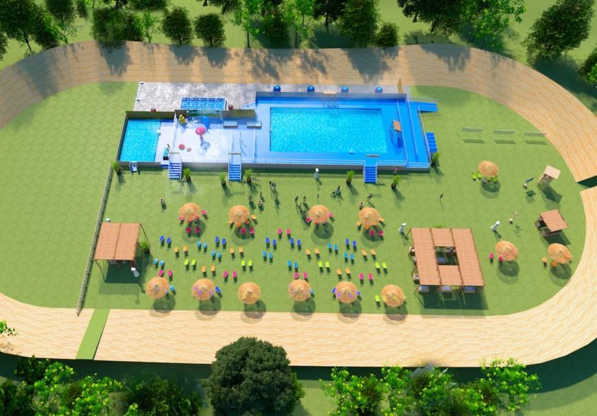 Lyon : une piscine éphémère installée cet été au parc de la Tête d'Or