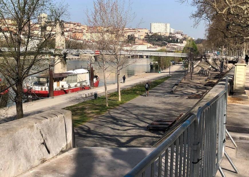 Berges du Rhône fermées à Lyon : ils franchissent les barrières pour aller courir