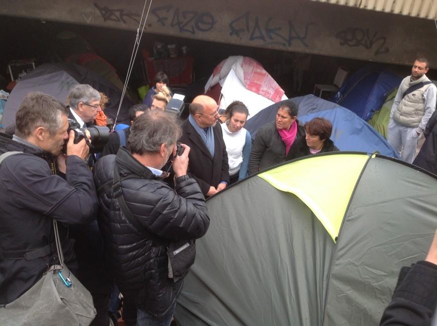 La justice et Manuel Valls au chevet du camp d'Albanais de Perrache (Màj)