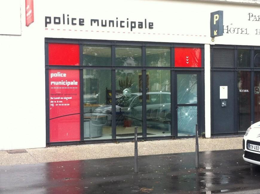 Villeurbanne : le poste de police municipale vandalisé