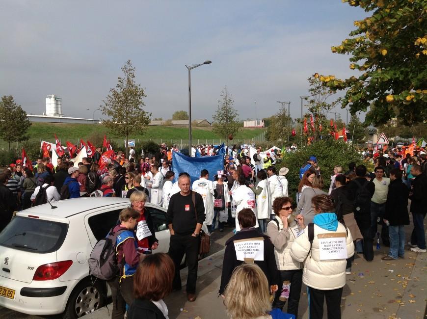 Les salariés de Sanofi dans les rues de Lyon ce jeudi