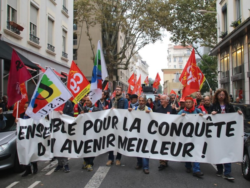 Rentrée sociale : entre 4 300 et 8 000 manifestants à Lyon