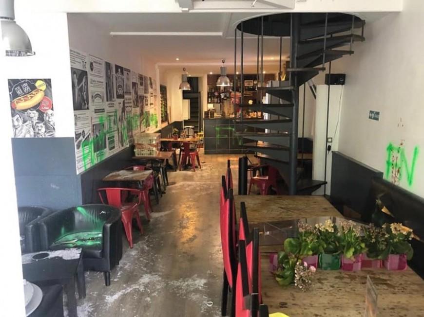 Lyon : un restaurant saccagé, des tags racistes retrouvés sur place