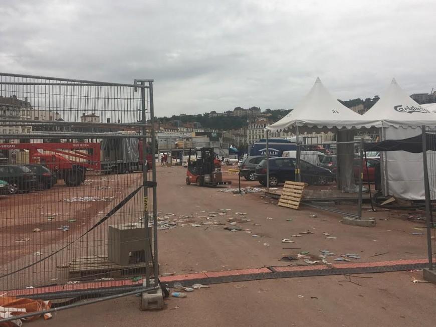 Lyon : la Fan Zone plie bagage
