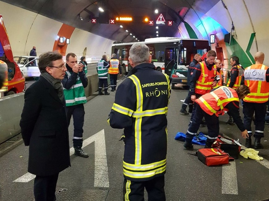Important exercice de sécurité civile sous le tunnel de la Croix-Rousse cette nuit