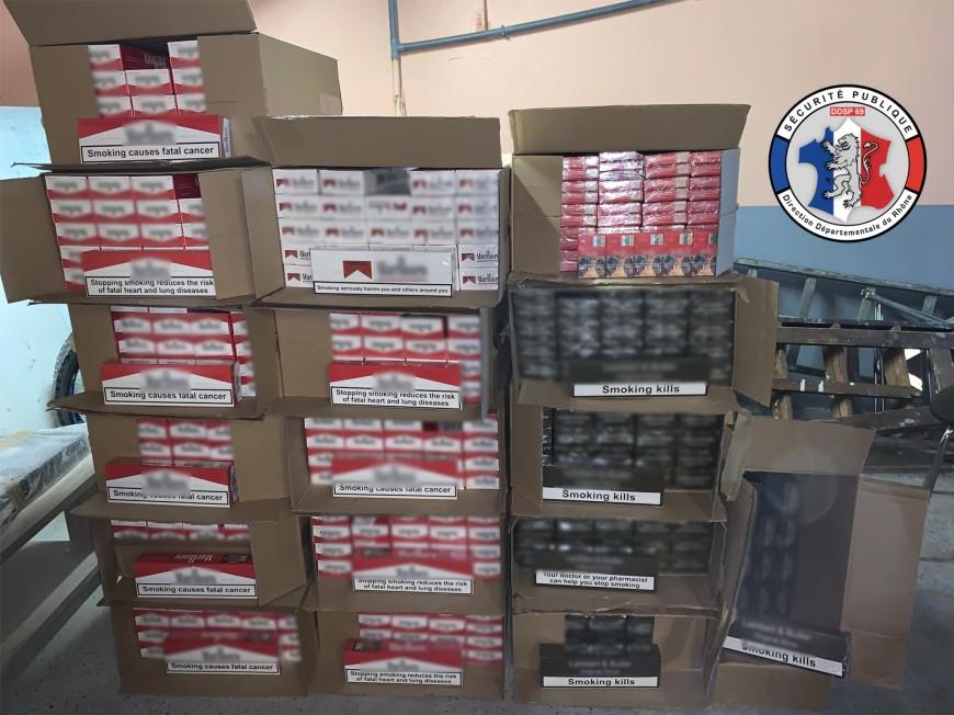 Près de Lyon : plus de 10 000 paquets de cigarettes saisis