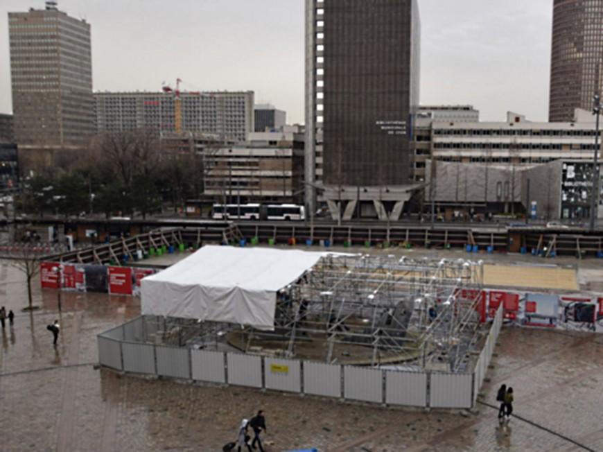 Projet Lyon Part-Dieu : place aux sondages d'infiltrations et à la dépose de la fontaine d'Ipousteguy