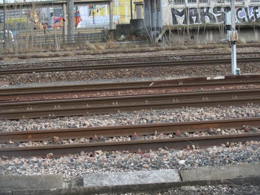 Bloquée sur les rails du train, elle sort de sa voiture in-extremis