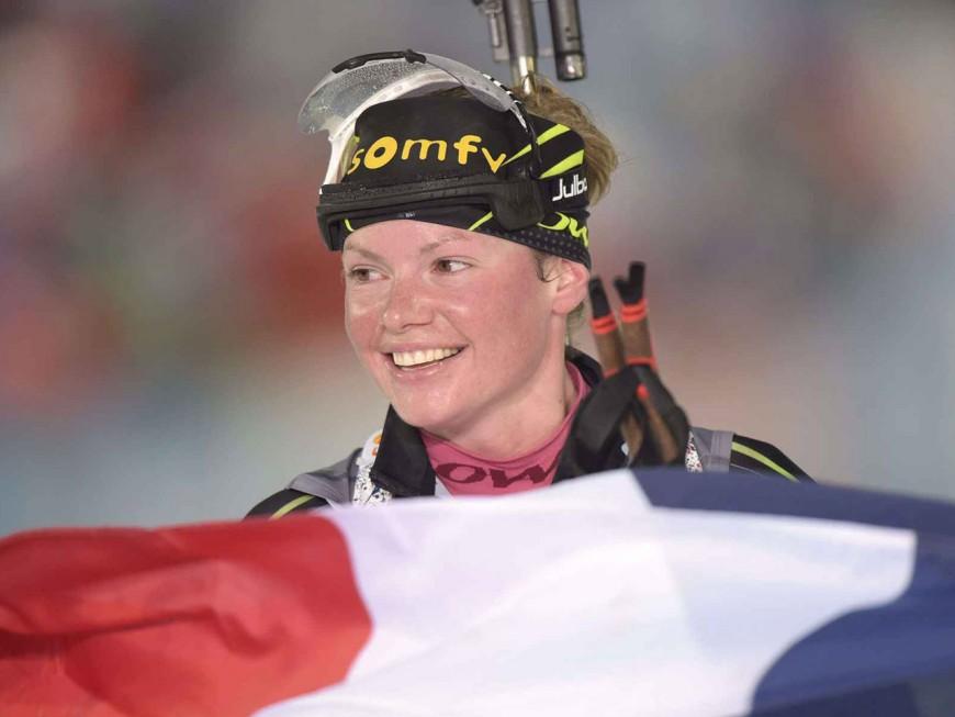 Biathlon : Marie Dorin-Habert au pied du podium à Ruhpolding