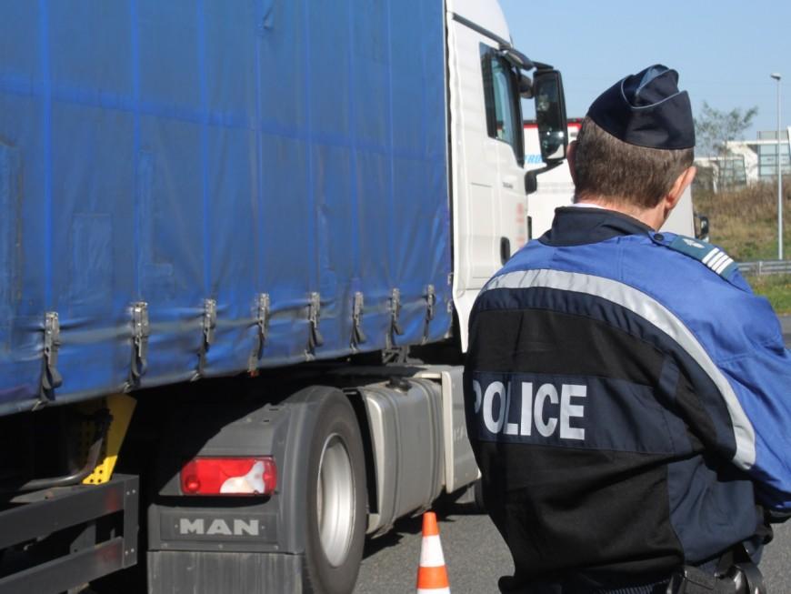 Un routier contrôlé avec 2,86 g d'alcool dans le sang près de Lyon