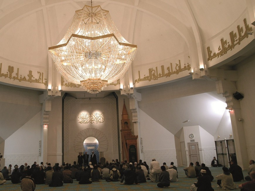 Gérard Collomb à Lyon pour un diner à la Grande Mosquée