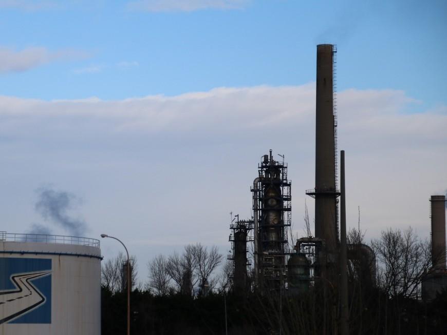 Une unité de production de la raffinerie de Feyzin à l'arrêt après un incident technique