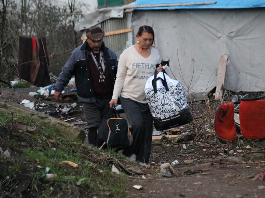 Lyon : un campement de Roms évacué à Gerland