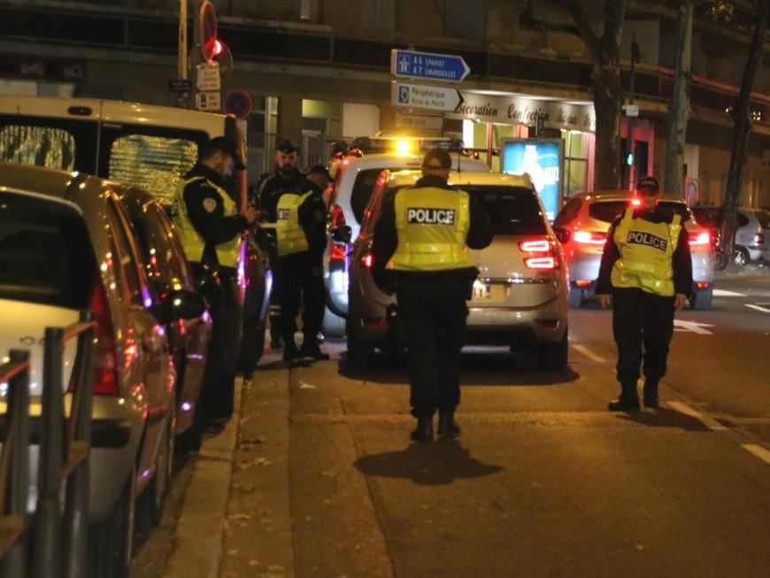 Course-poursuite nocturne dans les rues de Lyon