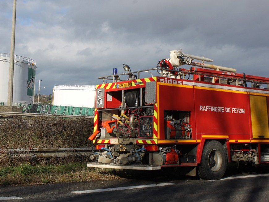 Feyzin : un incendie dans une usine de traitement de déchets