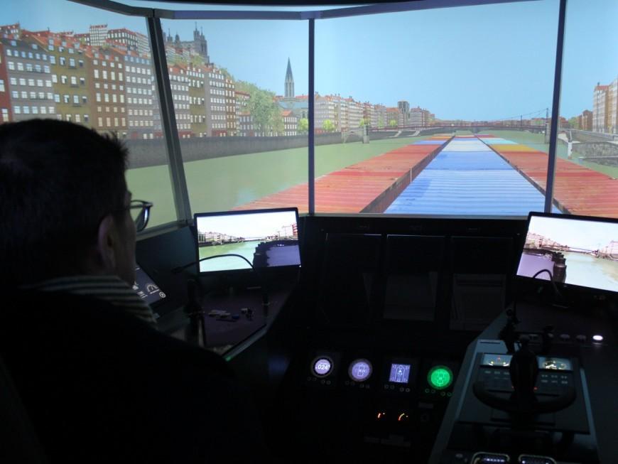 Lyon: un simulateur fluvial pour se préparer au pire sur le Rhône et la Saône