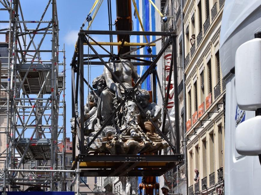 Les derniers éléments de la fontaine Bartholdi ont quitté Lyon