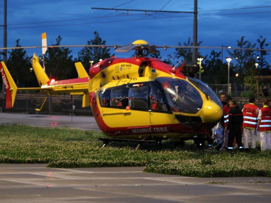 Rhône : deux blessés graves après un accident voiture-motocyclette