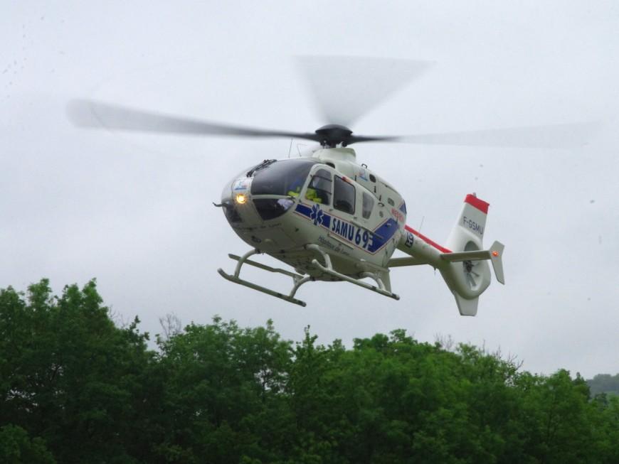 Près de Lyon: deux blessés dont un grave lors d'un accident ce mardi matin