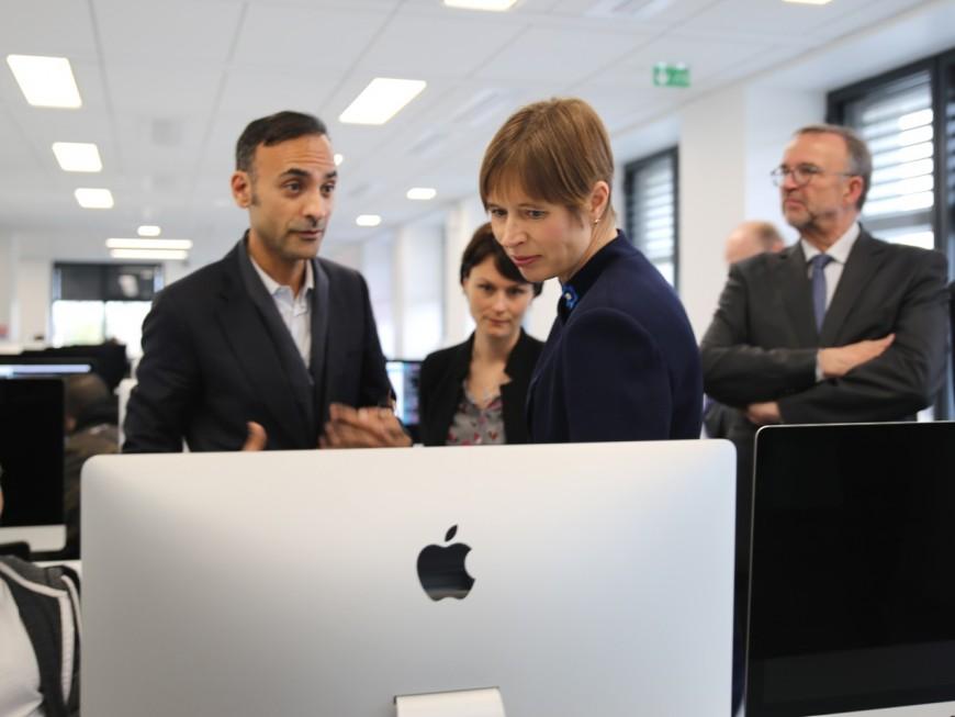 La présidente estonienne à Lyon pour vanter sa cybersécurité