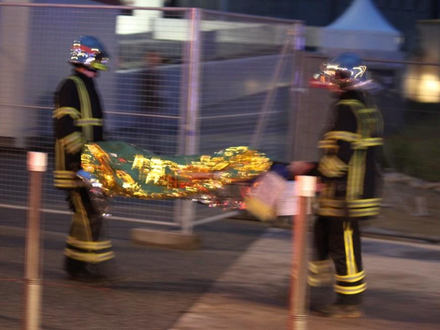 Des blessés dans un accident de la circulation devant le Parc OL