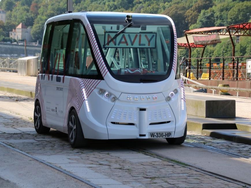 A Lyon, la navette autonome Navly transporte 100 personnes par jour