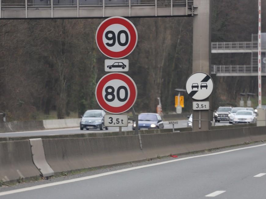 Retour aux 90 km/h : c'est non dans le Rhône !