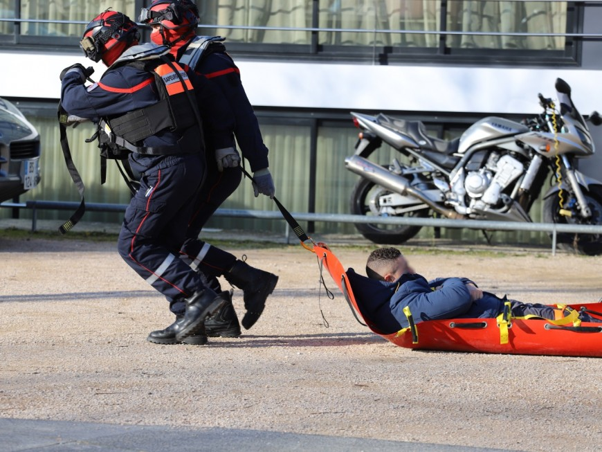 Lyon : un ouvrier blessé après une chute du chantier de la tour Silex 2