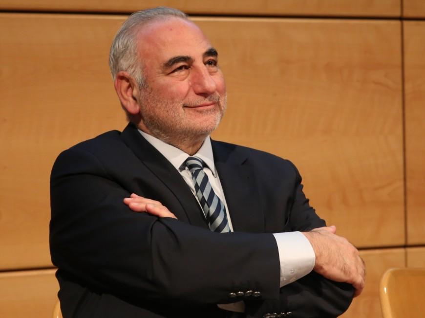 Le maire de Lyon Georges Képénékian, président du club des sites hôtes de la Coupe du Monde 2023 de rugby
