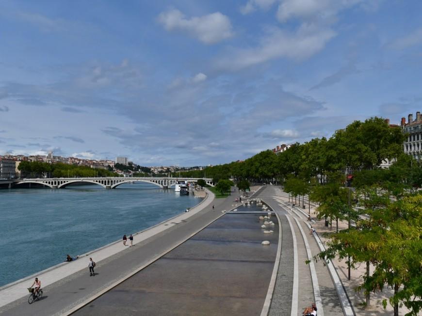 Confinement à Lyon :les berges du Rhône fermées