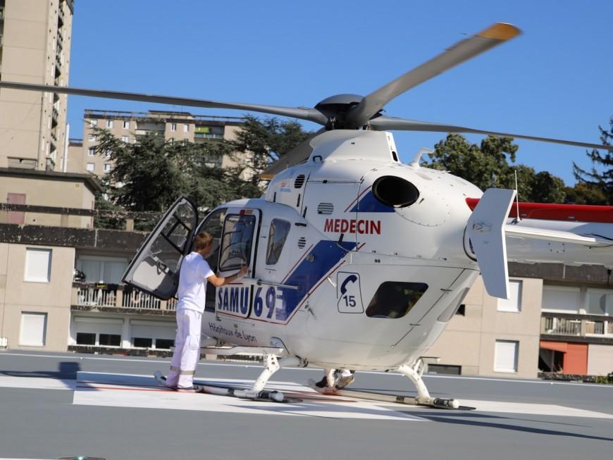 Trois hélicoptères mobilisés après un accident près de Lyon