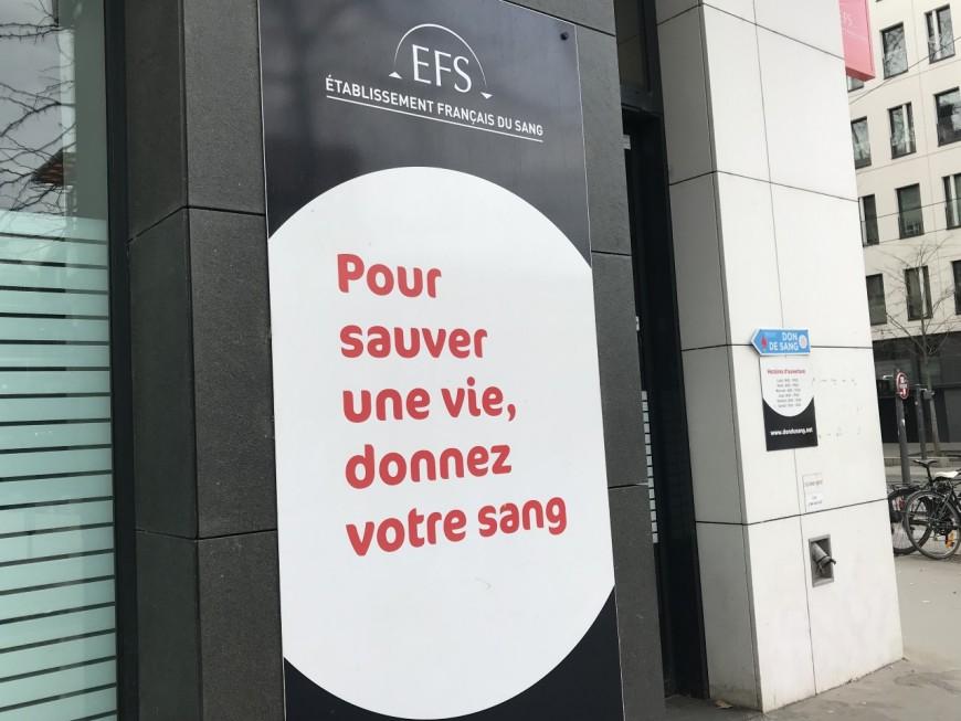 Lyon : un appel aux dons lancé par l'Etablissement français du Sang