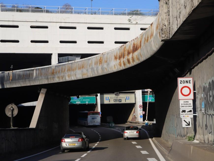 Mur qui continue de s'effriter : la trémie n°1 de Perrache fermée à la circulation