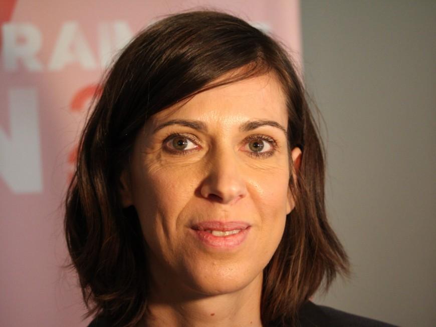 Municipales à Lyon : Sandrine Runel (Gauche Unie) en meeting avec Olivier Faure