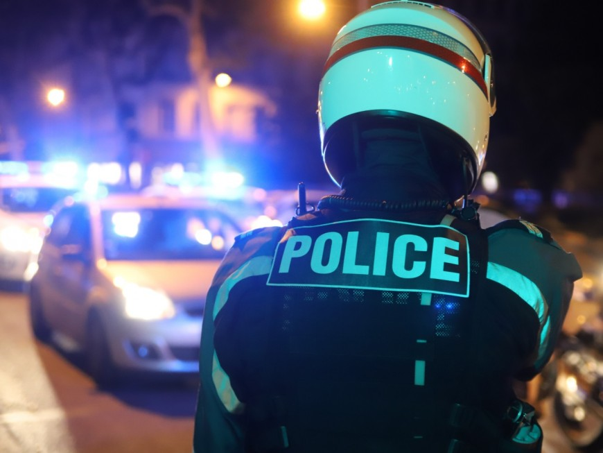 Près de Lyon: la course-poursuite se termine dans la clôture d'un pavillon