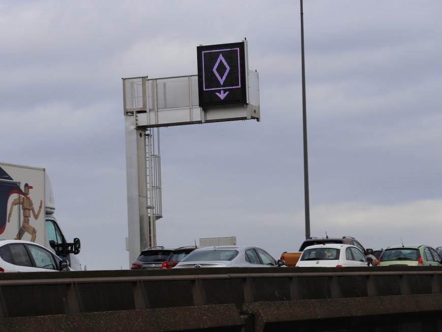 Lyon : pas de verbalisation avant janvier sur les voies de covoiturage de la M6/M7