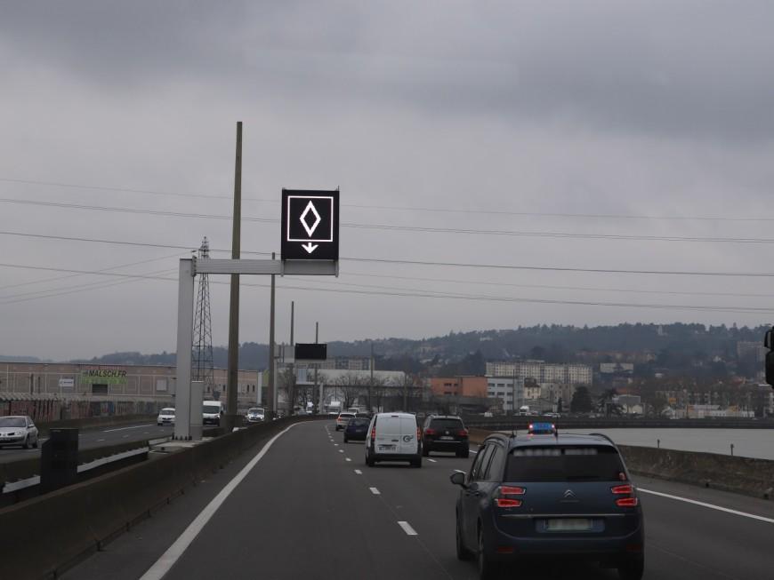Lyon : la verbalisation débute sur les voies de covoiturage de la M6/M7