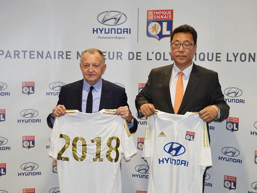 L'OL et Hyundai prolongent leur partenariat jusqu'en 2018