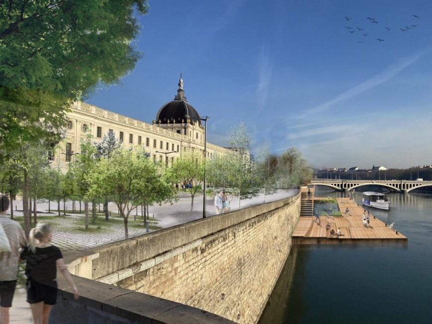 Quais du Rhône, Guillotière, gradins flottants… l'ambitieux plan urbanisme de Kimelfeld et Képénékian à Lyon