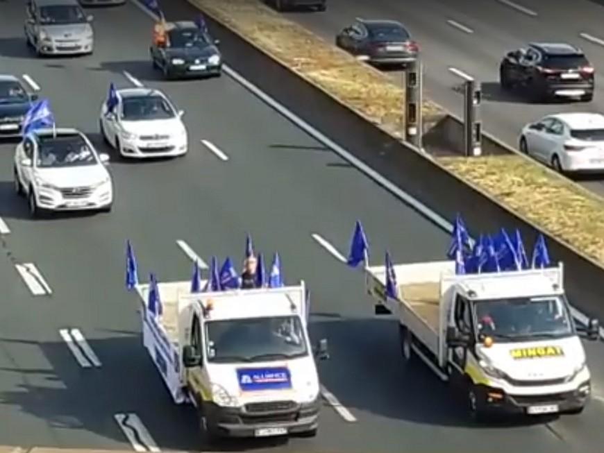 Lyon : opération escargot des policiers sur le périphérique