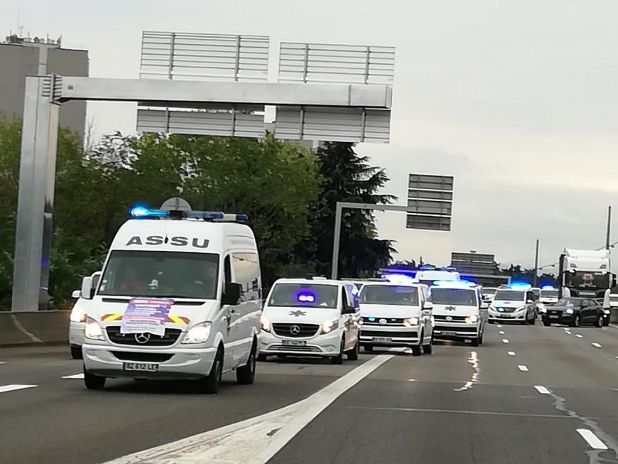 Opération escargot : 120 ambulances mobilisées, grosse pagaille sur les routes lyonnaises