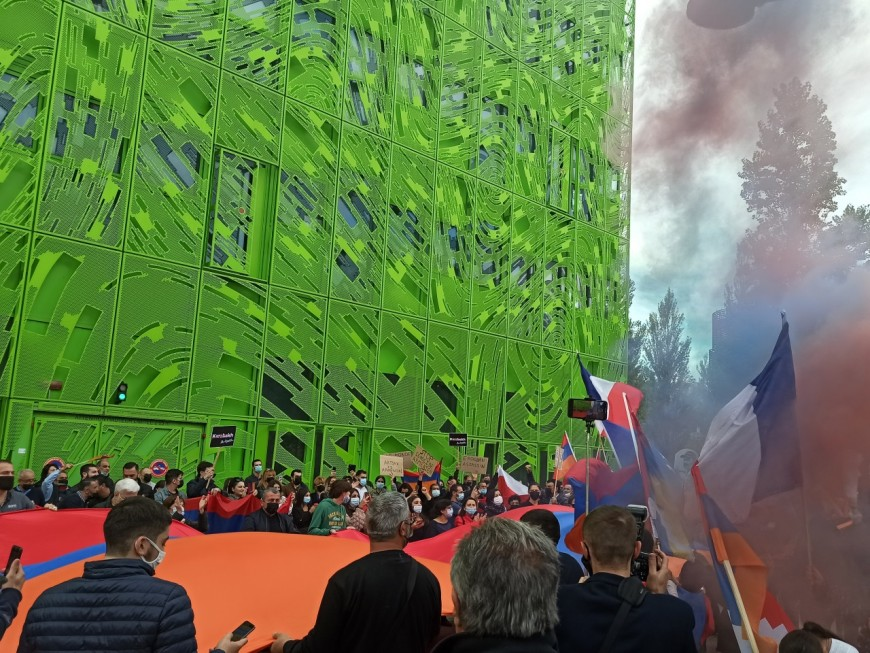 Lyon : plus de 400 manifestants pour soutenir les Arméniens du Artsakh
