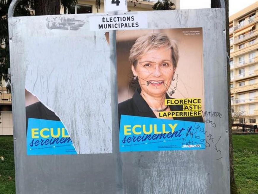 Municipales à Ecully : une candidate porte plainte après des dégradations de ses affiches