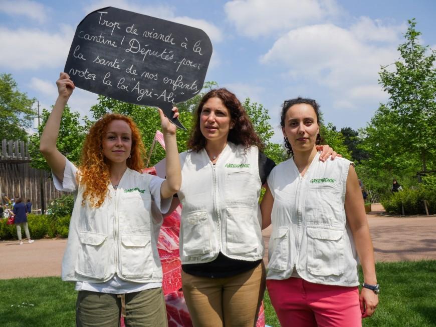 """Greenpeace lance une photo-pétition au parc de la Tête d'Or pour """"des assiettes plus durables"""""""