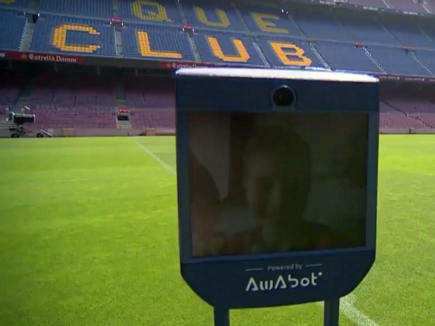 Awabot : le robot lyonnais au Camp Nou de Barcelone