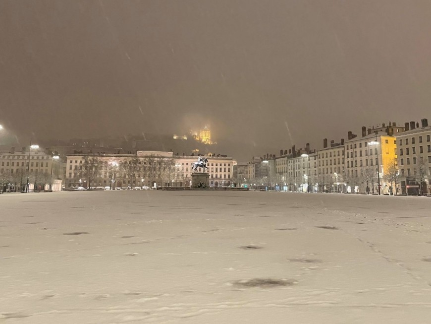 Neige : Lyon se pare de son premier manteau blanc de l'année