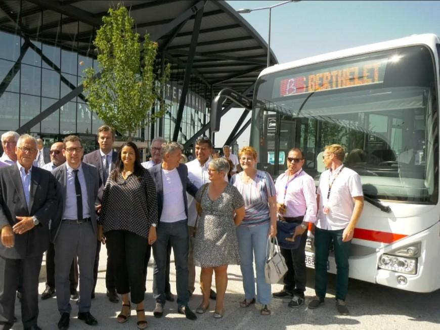 Une première ligne de bus TCL desservira l'aéroport de Lyon dès lundi - VIDEO