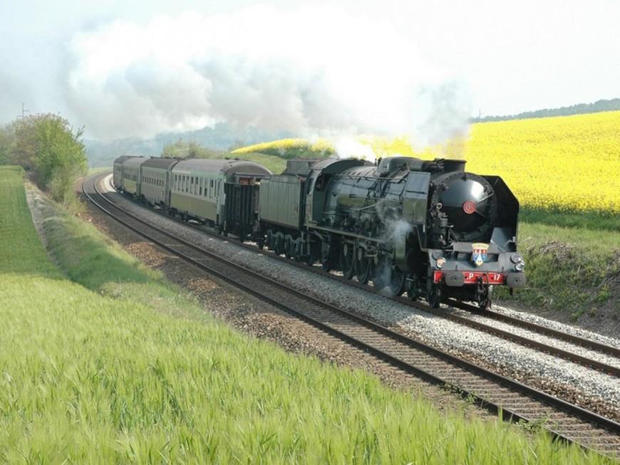 La plus puissante locomotive à vapeur d'Europe en gare de Perrache ce dimanche
