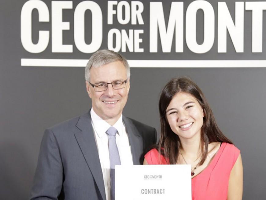 Camille, 22 ans, lyonnaise, et PDG d'Adecco durant un mois !